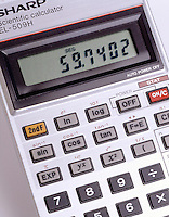 SCIENTIFIC CALCULATOR READS 59.7402<br />