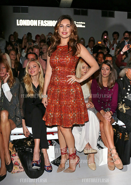 Kelly Brook at London Fashion Week Spring/Summer 2013 - Bora Aksu - Front Row. . 14/09/2012 Picture by: Henry Harris / Featureflash.....