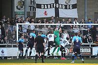 Woking goalkeeper, Craig Ross, makes a fine save to foil a Dartford attack during Dartford vs Woking, Vanarama National League South Football at Princes Park on 23rd February 2019