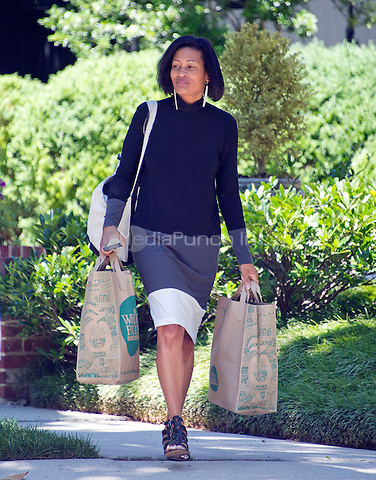 Cheryl Mills, former Chief of Staff to former United States Secretary of State Hillary Clinton, departs the Clinton home in Washington, DC on Saturday morning, July 2, 2016 following the announcement that Clinton had been questioned by the FBI earlier today.<br /> Credit: Ron Sachs / CNP<br /> (RESTRICTION: NO New York or New Jersey Newspapers or newspapers within a 75 mile radius of New York City)/MediaPunch