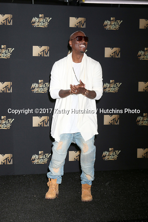 LOS ANGELES - MAY 7:  Tyrese Gibson at the MTV Movie and Television Awards on the Shrine Auditorium on May 7, 2017 in Los Angeles, CA