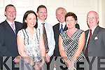BADMINTON: Kerry Badminton Board committee having a good time at the Badminton Awards and Social night in the Earl of Desmond Hotel, Tralee, on Friday. L-r: Mike Corridon, Moyvane (Vice Chairman), Brid Murphy, Castleisland (Assistant Secretary), Tom McElligott, Listowel (Treasurer), Johnny Brosnan, Castleisland (Vice President), Peggy Horan, Killarney (Secretary) and Junior Griffin, Listowel (Chairman)..