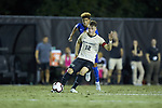 Brad Dunwell (12) of the Wake Forest Demon Deacons passes the ball during first half action against the Duke Blue Devils at W. Dennie Spry Soccer Stadium on September 29, 2018 in Winston-Salem, North Carolina.  The Demon Deacons defeated the Blue Devils 4-2.  (Brian Westerholt/Sports On Film)