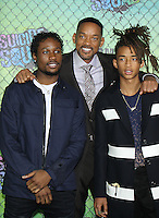 NEW YORK, NY-August 01: Trey Smith, Will Smith and Jayden Smith  at Warner Bros. Pictures & DC, Atlas Entertainment  presents the World Premiere of Suicide Squad  at the Beacon Theatre in New York. NY August 01, 2016. Credit:RW/MediaPunch