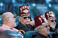 Several members of the Shriners take in game two of the 2020 Shriners Hospitals for Children College Classic between the Arkansas Razorbacks and the Oklahoma Sooners at Minute Maid Park on February 28, 2020 in Houston, Texas. The Sooners defeated the Razorbacks 6-3. (Brian Westerholt/Four Seam Images)