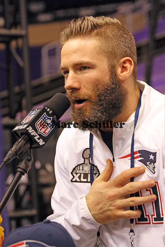 WR Julian Edelman (Patriots)  - Super Bowl XLIX Media Day, US Airways Center, Phoenix