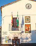 Ayuntamiento town hall building village of Castano del Robledo, Sierra de Aracena, Huelva province, Spain