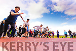 Action from the 100m sprint at the Kerry ETB Athletics event at An Riocht, Castleisland, on Friday last.