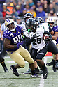 SEATTLE, WA - SEPTEMBER 14:  Hawaii (26) Miles Reed (RB) cuts to the outside during the college football game between the Washington Huskies and the Hawaii Rainbow Warriors on September 14, 2019 at Husky Stadium in Seattle, WA. Jesse Beals / www.Olympicphotogroup.com