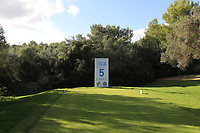 The 5th tee during the Pro-Am of the Challenge Tour Grand Final 2019 at Club de Golf Alcanada, Port d'Alcúdia, Mallorca, Spain on Wednesday 6th November 2019.<br /> Picture:  Thos Caffrey / Golffile<br /> <br /> All photo usage must carry mandatory copyright credit (© Golffile | Thos Caffrey)