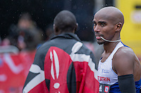 Mo Farah of Great Britain after finishing third in the IAAF World Half Marathon Championships 2016 in Cardiff, Wales on 26 March 2016. Photo by Mark  Hawkins / PRiME Media Images.