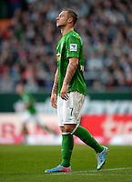 FUSSBALL   1. BUNDESLIGA   SAISON 2012/2013    30. SPIELTAG SV Werder Bremen - VfL Wolfsburg                          20.04.2013 Marko Arnautovic (SV Werder Bremen) enttaeuscht