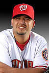 25 February 2007: Washington Nationals pitcher Arnie Munoz poses for his Photo Day portrait at Space Coast Stadium in Viera, Florida.<br /> <br /> Mandatory Photo Credit: Ed Wolfstein Photo<br /> <br /> Note: This image is available in a RAW (NEF) File Format - contact Photographer.