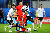Chile vs Germany S√O PETERSBURGO, MO - 02.07.2017: CHILE VS GERMANY - Arturo Vidal of Chile contests with Shkodran Mustafi and Antonio Ruediger of Germany during a match between Chile and Germany valid for the Final of the Confederations Cup 2017, this Sunday (02), held at the Krestovsky Stadium (Zenit Arena) in St. Petersburg, Russia . (Photo: Heuler Andrey/DiaEsportivo/Fotoarena) x1348992x PUBLICATIONxNOTxINxBRAxCHN HeulerxAndrey<br /> <br /> Chile vs Germany SO  Mo 02 07 2017 Chile vs Germany Arturo Vidal of Chile Contests with Shkodran Mustafi and Antonio Ruediger of Germany during A Match between Chile and Germany Valid for The Final of The Confederations Cup 2017 This Sunday 02 Hero AT The Krestovsky Stage Zenit Arena in St Petersburg Russia Photo  Andrey DiaEsportivo Fotoarena  PUBLICATIONxNOTxINxBRAxCHN  <br /> Foto Imago/Insidefoto