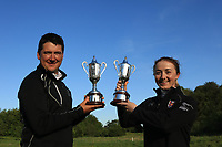 Colm Campbell Jnr (Warrenpoint) and Jessica Ross (Clandeboye) winners of the Ulster Stroke Play Championships at Galgorm Castle Golf Club, Ballymena, Northern Ireland. 28/05/19<br />