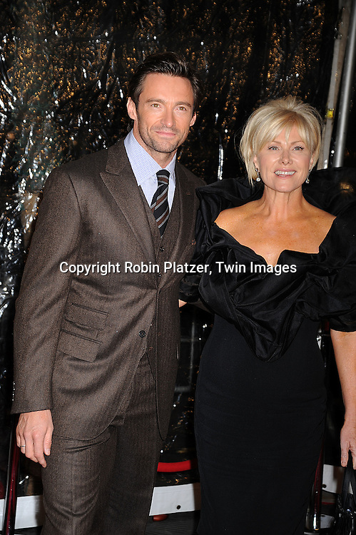 "Hugh Jackman and wife Deborra-Lee Furness..posing for photographers at The New York Movie Premiere of ""Australia"" on November 24, 2008 at The Ziegfeld Theatre. ....Robin Platzer, Twin Images....212-935-0770"