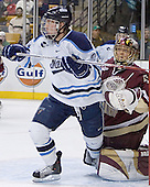 Mike Hamilton, Cory Schneider - The Boston College Eagles defeated the University of Maine Black Bears 4-1 in the Hockey East Semi-Final at the TD Banknorth Garden on Friday, March 17, 2006.