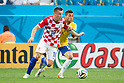 Ivica Olic (CRO), Daniel Alves (BRA), JUNE 12, 2014 - Football / Soccer : FIFA World Cup Brazil 2014 Group A match between Brazil 3-1 Croatia at Arena de Sao Paulo in Sao Paulo, Brazil. (Photo by Maurizio Borsari/AFLO)