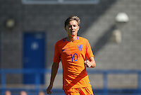Odysseus Valanas of Holland during the International match between England U19 and Netherlands U19 at New Bucks Head, Telford, England on 1 September 2016. Photo by Andy Rowland.