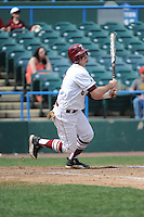 Temple University Owls outfielder Jimmy Kerrigan (8) during a game against the University of South Florida Bulls at Campbell's Field on April 13, 2014 in Camden, New Jersey. USF defeated Temple 6-3.  (Tomasso DeRosa/ Four Seam Images)