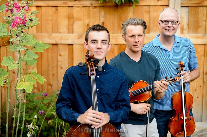 Trent Nelson  |  The Salt Lake Tribune<br /> Intermezzo musicians Rainer Eudeikis, David Porter, Carl Johansen, Wednesday June 24, 2015 in Salt Lake City.