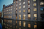 Victorian building on Regents canal in north London converted to office space