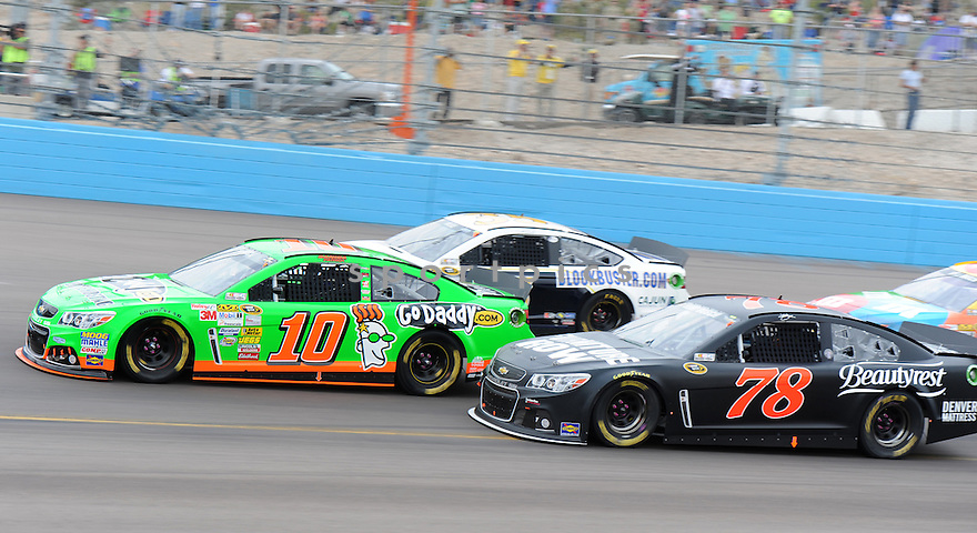 Sprint Cup driver Danica Patrick (10) during the Subway Fresh Fit 500 on March 3, 2013 in Phoenix, AZ.