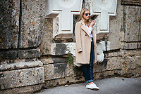 Street Style at Milan Fashion Week (Photo by Hunter Abrams/Guest of a Guest)