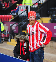 Lincoln City fans enjoy the pre-match atmosphere<br /> <br /> Photographer Andrew Vaughan/CameraSport<br /> <br /> Emirates FA Cup First Round - Lincoln City v Northampton Town - Saturday 10th November 2018 - Sincil Bank - Lincoln<br />  <br /> World Copyright © 2018 CameraSport. All rights reserved. 43 Linden Ave. Countesthorpe. Leicester. England. LE8 5PG - Tel: +44 (0) 116 277 4147 - admin@camerasport.com - www.camerasport.com
