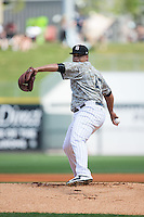 Birmingham Barons starting pitcher Frankie Montas (47) in action against the Tennessee Smokies at Regions Field on May 3, 2015 in Birmingham, Alabama.  The Smokies defeated the Barons 3-0.  (Brian Westerholt/Four Seam Images)