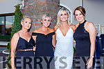 Grace O'Connell Tralee, Laura Dillon Killarney, Aoife O'Sullivan Tralee and Siobhan Brosnan at the Kerry Garda ball in the Killarney Oaks Hotel on Friday night