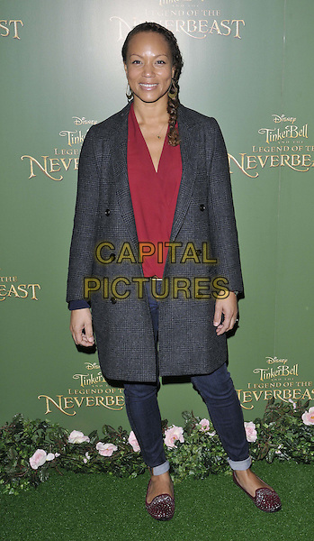 LONDON, ENGLAND - DECEMBER 07: Angela Griffin attends the &quot;Tinker Bell &amp; The Legend Of The NeverBeast&quot; VIP film screening, Vue West End cinema, Leicester Square, on Sunday December 07, 2014 in London, England, UK. <br /> CAP/CAN<br /> &copy;CAN/Capital Pictures