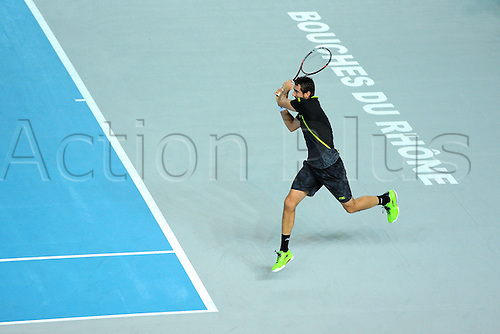 21.02.2016. MARSEILLE, France. ATP Open 13 mens final. Nick Kyrgios versus Martin Cilic.  Marin Cilic (CRO) loses to Kyrgios in 2 sets 6-2 and 7-6 (3)