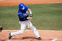 23 August 2007: Right Field #31 Anthony Cros connects for a hit bat during the France 8-4 victory over Czech Republic in the Good Luck Beijing International baseball tournament (olympic test event) at the Wukesong Baseball Field in Beijing, China.
