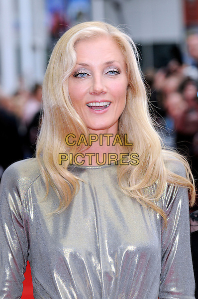 "JOELY RICHARDSON.The premiere for ""The Edge Of Love"" at the 62nd Edinburgh International Film Festival, Edinburgh, Scotland. .June 18th, 2008 .half length silver gold metallic dress mouth open.CAP/FIN.©Steve Finn/Capital Pictures."