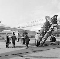 Royal Antwerp Aviation Club.  November 1967.  Sabena Douglas DC-6B (OO-CTK) op de luchthaven van Deurne.