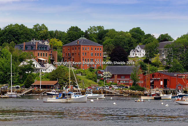 Rockport Harbor, Maine, USA
