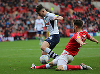Ben Purrington of Charlton Athletic tackles Seán Maguire of Preston North End during Charlton Athletic vs Preston North End, Sky Bet EFL Championship Football at The Valley on 3rd November 2019
