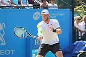 June 17th 2017, Nottingham, England; ATP Aegon Nottingham Open Tennis Tournament day 6;  Sam Groth of Australia in action in the semi final against Thomas Fabbiano of Italy