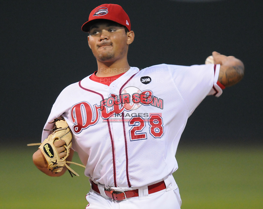 Sept. 18, 2009: Starting pitcher Fabian Williamson (28). The Lakewood BlueClaws won Game 4 of the South Atlantic League Championship Series against the Greenville Drive 5-1 at Fluor Field at the West End in Greenville, S.C. Lakewood won the series 3 games to 1. Photo by: Tom Priddy/Four Seam Images
