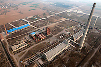 An industrial area with factories and chimneys in Linzhou. /Felix Features