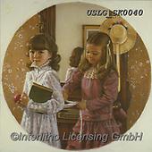CHILDREN, KINDER, NIÑOS, paintings+++++,USLGSK0040,#K#, EVERYDAY ,Sandra Kock, victorian