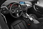 High angle dashboard view of a 2013 BMW 330d Touring Wagon