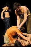 PAVLOVA 3 23....Choregraphie : MONNIER Mathilde..Compagnie : CCN de Montpellier Languedoc Roussillon..Decor : TOLLETER Annie..Lumiere : WURTZ Eric..Costumes : FABREGUE Dominique..Avec :..BENGOLEA Cecilia..CIMA Julia..DEMICHELIS Yoann..GALLE FERRE Julien..GARCIA Corinne..GRANATO Thiago..NORMAND Olivier..LIN I Fang..SAYET Rachid..Lieu : Theatre de la Ville Les Abbesses..Ville : Paris..Le : 01 02 2010..© Laurent PAILLIER / photosdedanse.com..All rights reserved