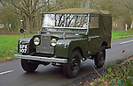 Perfectly restored and award winning 1953 dark bronze green Land Rover Series One 80 inch. Dunsfold, UK, 2001. --- No releases available. Automotive trademarks are the property of the trademark holder, authorization may be needed for some uses.