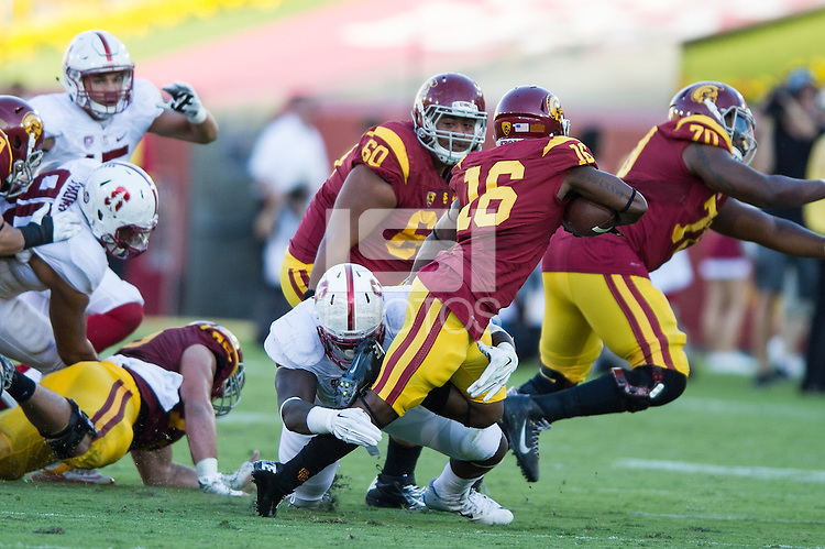 Los Angeles, CA, September 19, 2015<br /> Stanford Football vs. University of Southern California. Stanford won 41-31.