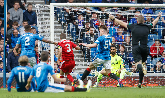 Graeme Shinnie scores for Aberdeen