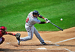 26 September 2010: Atlanta Braves infielder Alex Gonzalez in action against the Washington Nationals at Nationals Park in Washington, DC. The Nationals defeated the pennant-seeking Braves 4-2 to take the rubber match of their 3-game series. Mandatory Credit: Ed Wolfstein Photo