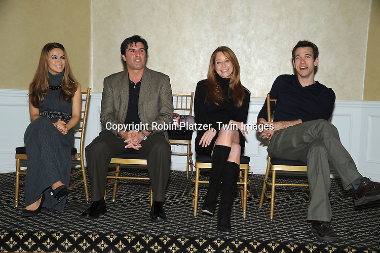 All My Children group shot, Chrishell Stause, Vincent Irizarry, Jamie Luner and Adam Mayfield