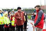 Walk Leader Sean McCormack briefs the walkers at the Operation Transformation National Walk...Photo NEWSFILE/Jenny Matthews..(Photo credit should read Jenny Matthews/NEWSFILE)